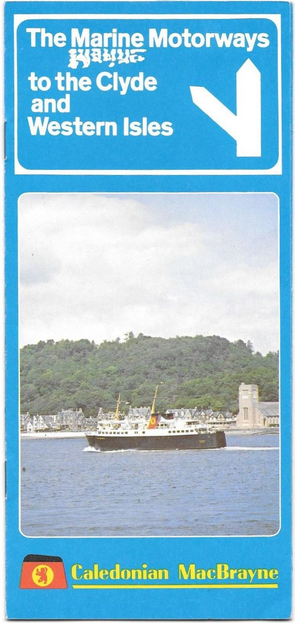 Caledonian MacBrayne - 1979 illustrated leaflet